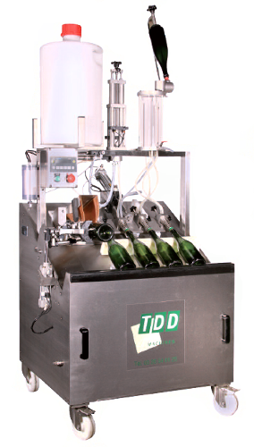 Disgorging machine DDV for sparkling wines
