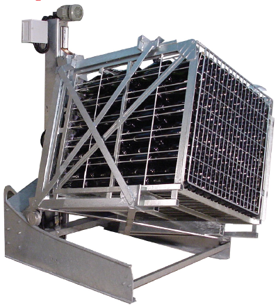 Gyropalette single cage for sparkling wines