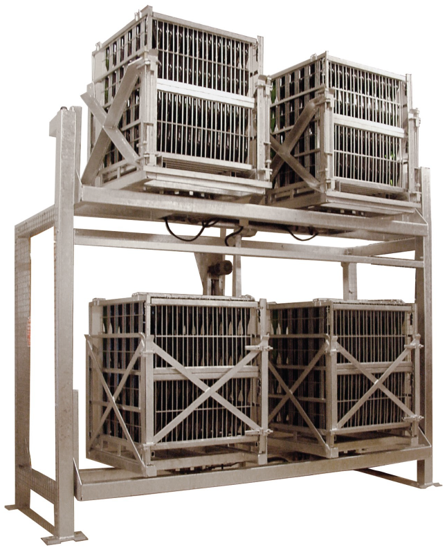 Gyropalette four cages for sparkling wines