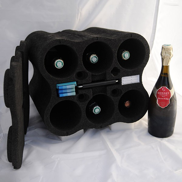 Box for carrying of wine bottles